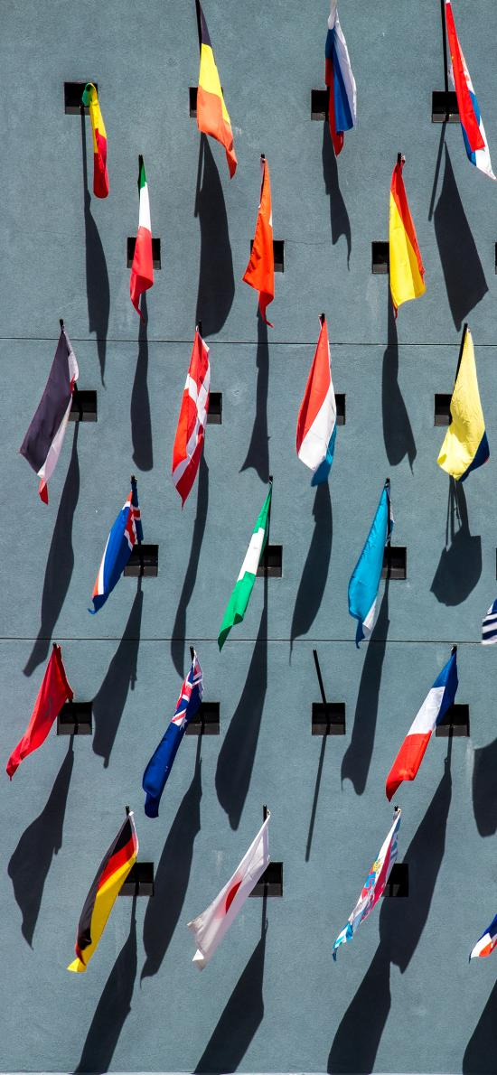 墙壁 旗帜 国家 色彩