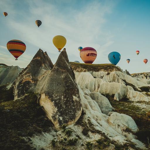 异域 土耳其 热气球 景点