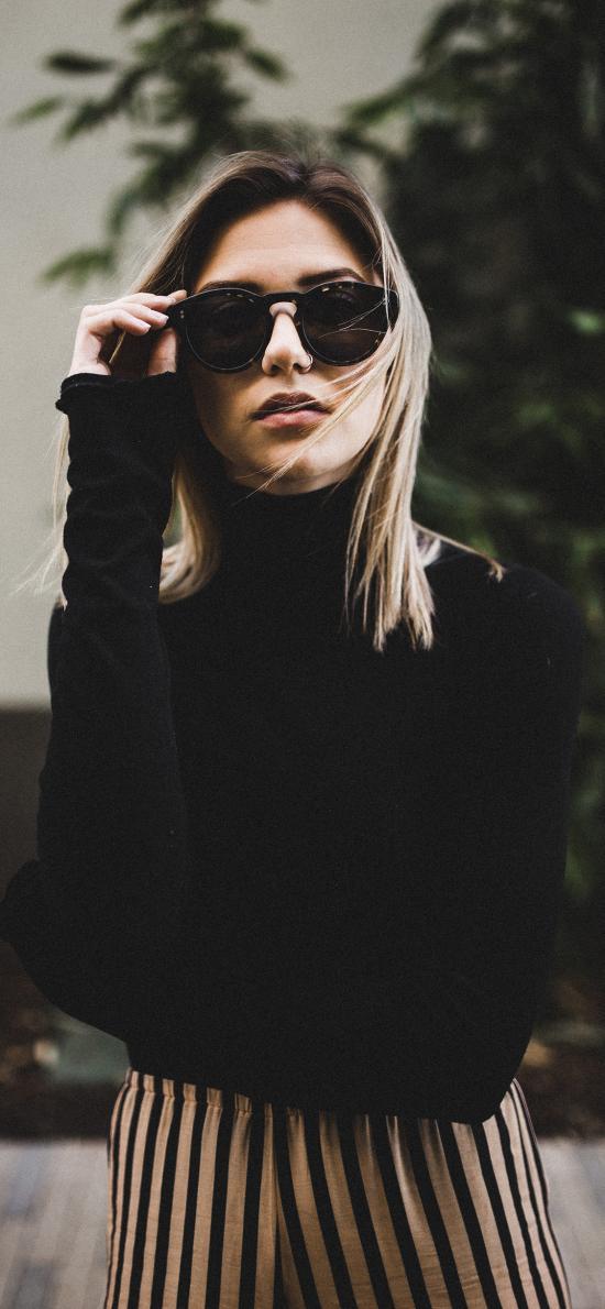 欧美美女 写真 墨镜 个性 有范