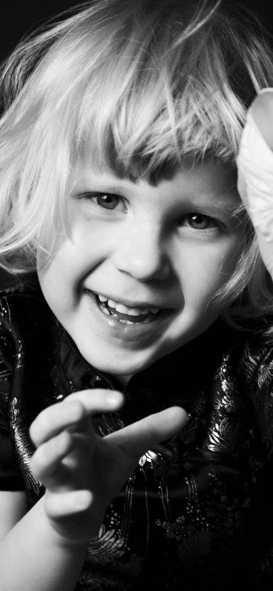孩子 黑白 欧美 可爱 儿童
