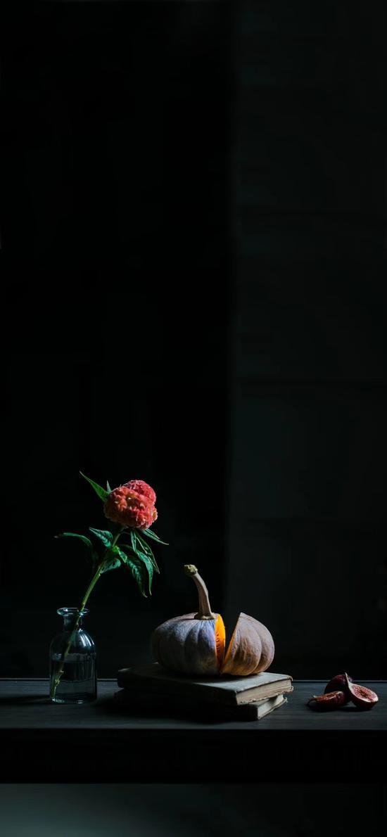食材 南瓜 无花果 鲜花