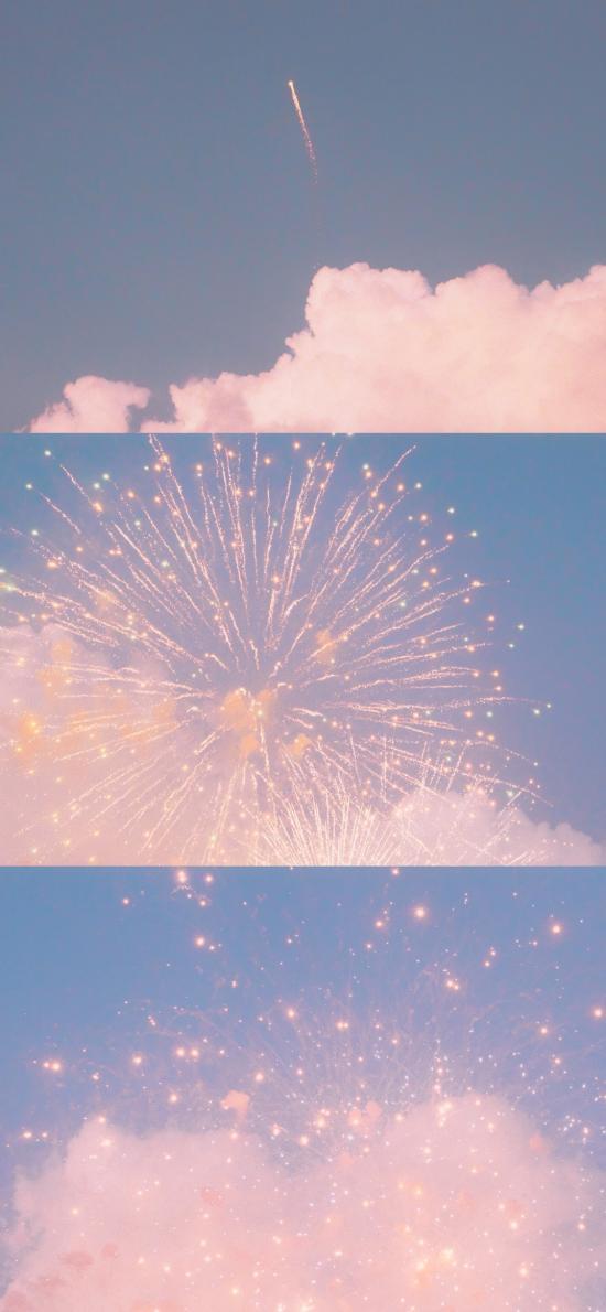 烟花 唯美 浪漫 云朵 天空
