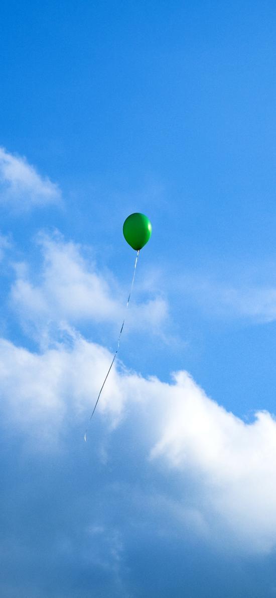 气球 蓝天白云 飞 天空