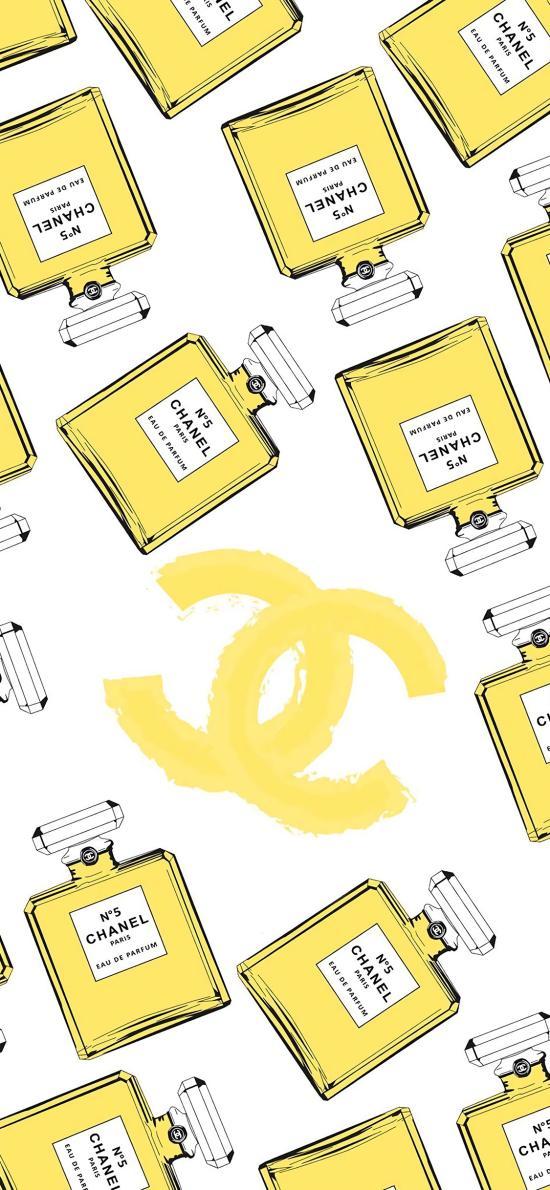 CHANEL 平铺 香水 奢侈品 logo 品牌