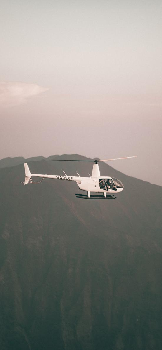 直升机 飞机 高空