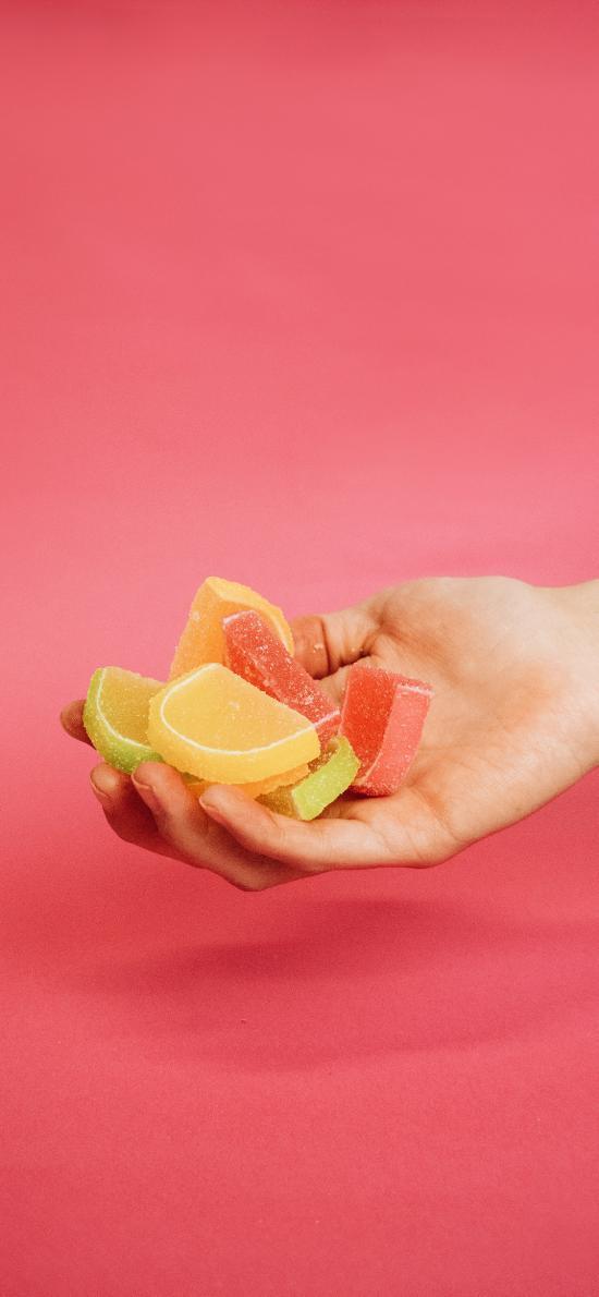 手部 糖果  色彩 零食