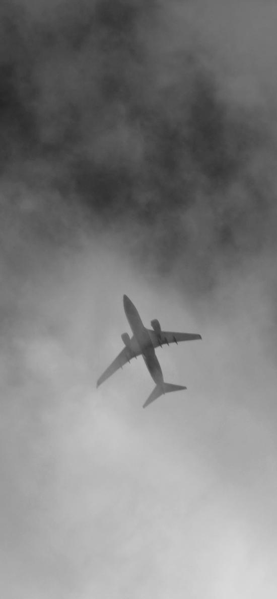 飞机 客机 灰暗 航空 飞行