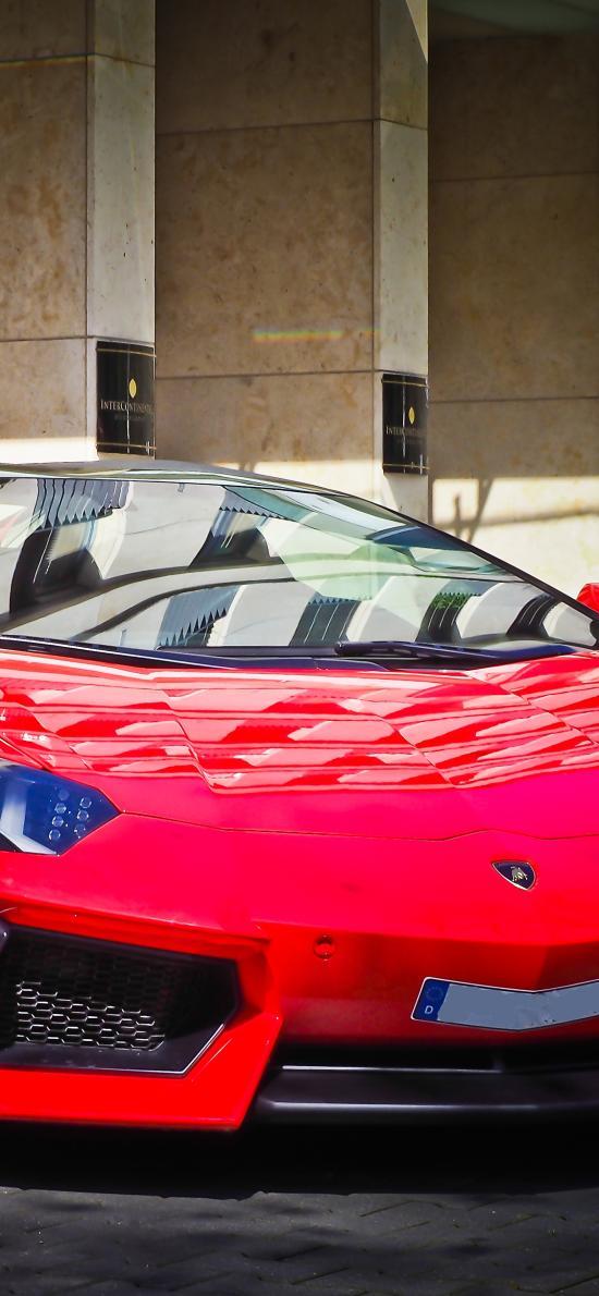 兰博基尼 超级跑车 炫酷 红色