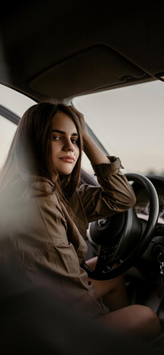 欧美美女 驾驶 气质 写真