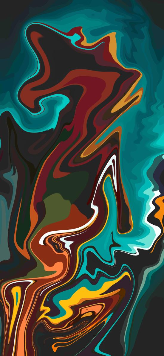 抽象 色彩 流动