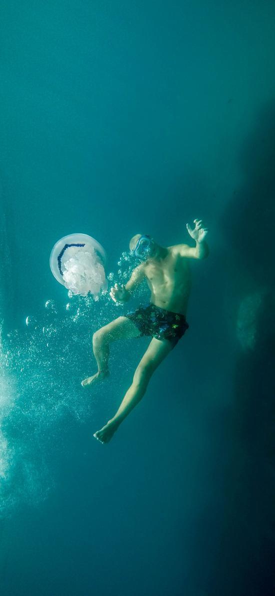 浮潜 休闲  水母 海蜇 海洋