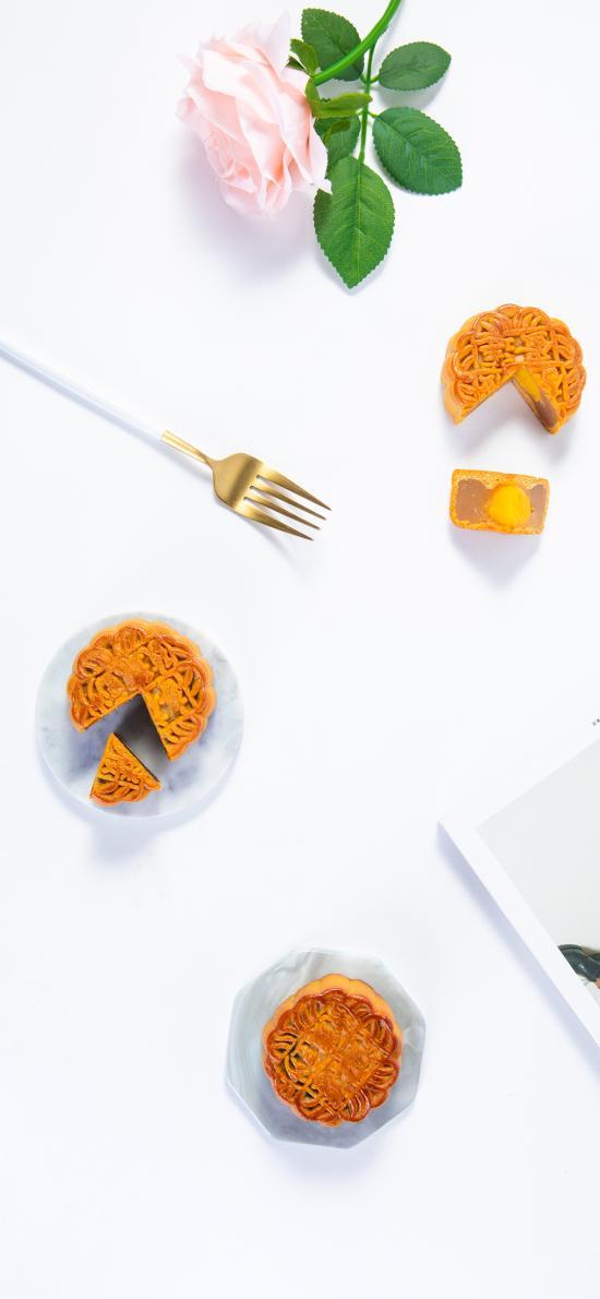 月饼 蛋黄 精致 节日 糕点