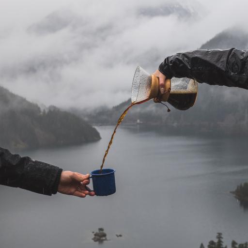 饮品 咖啡 倾倒 黑咖