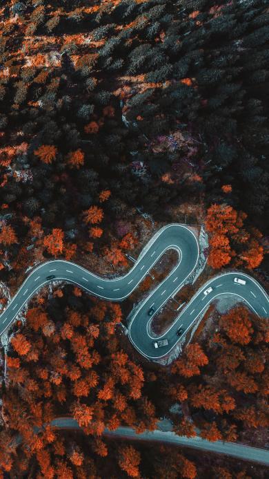公路 盘山 山路 弯曲