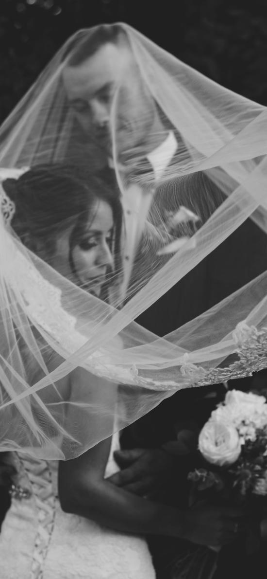 欧美 情侣 结婚 写真 黑白