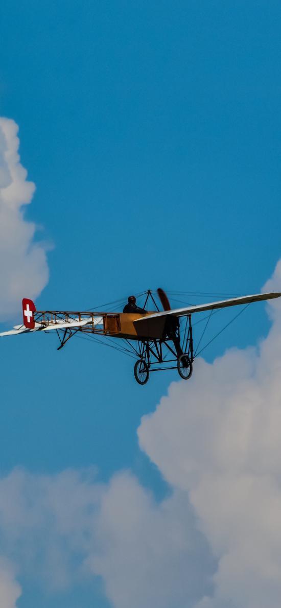 飞行 飞机 蓝天白云 航空