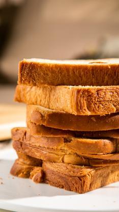 面包 烘烤 切片 层叠 吐司