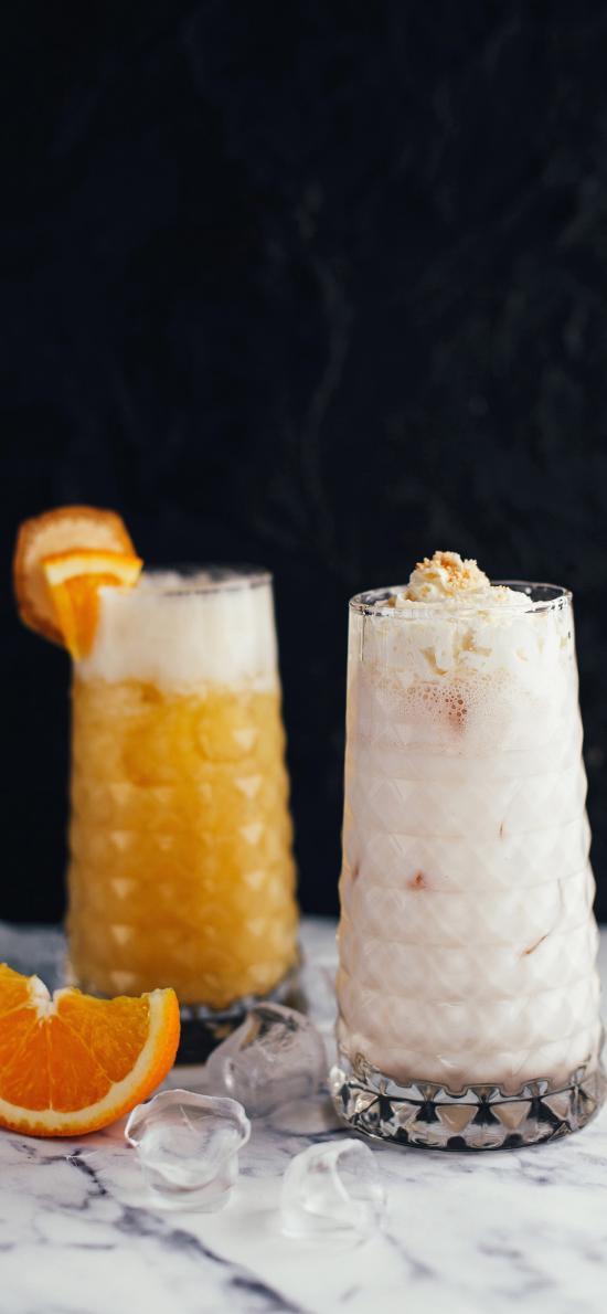 橙 水果 果汁 饮料