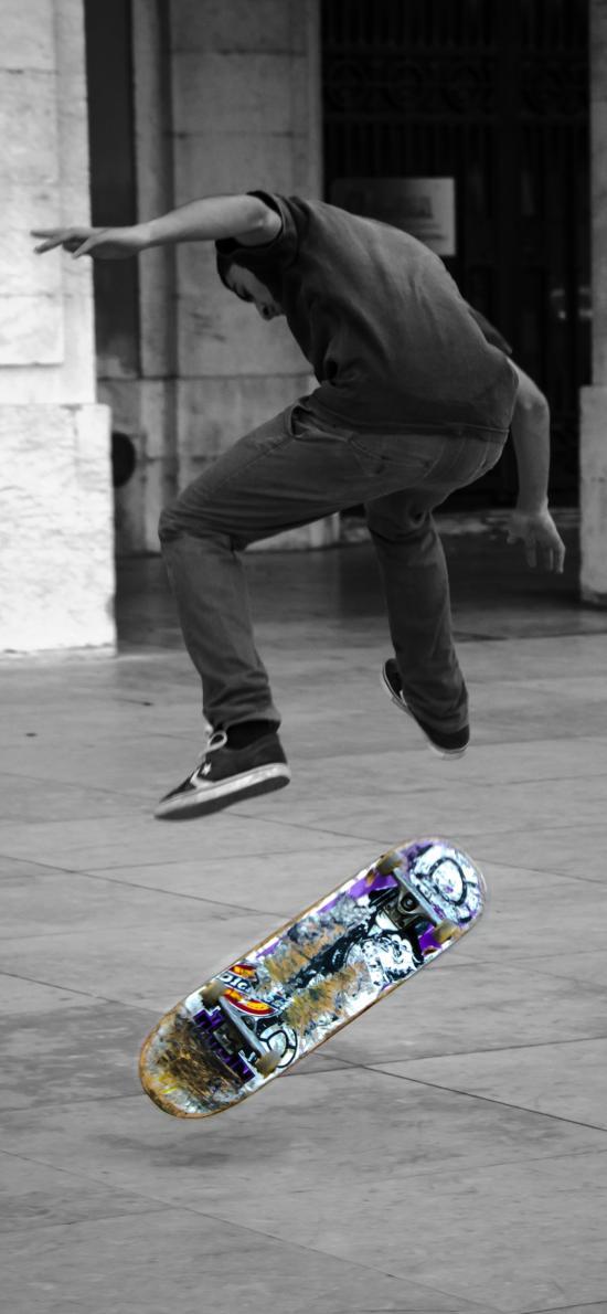 滑板 运动 男孩 街头 花式