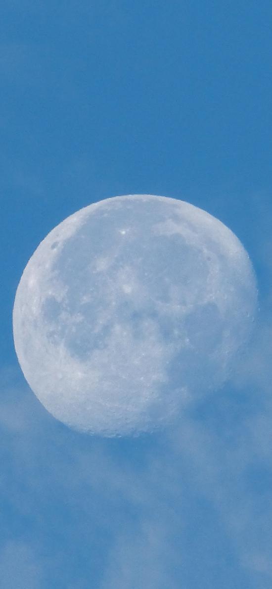 天象 蓝天 云雾 月球