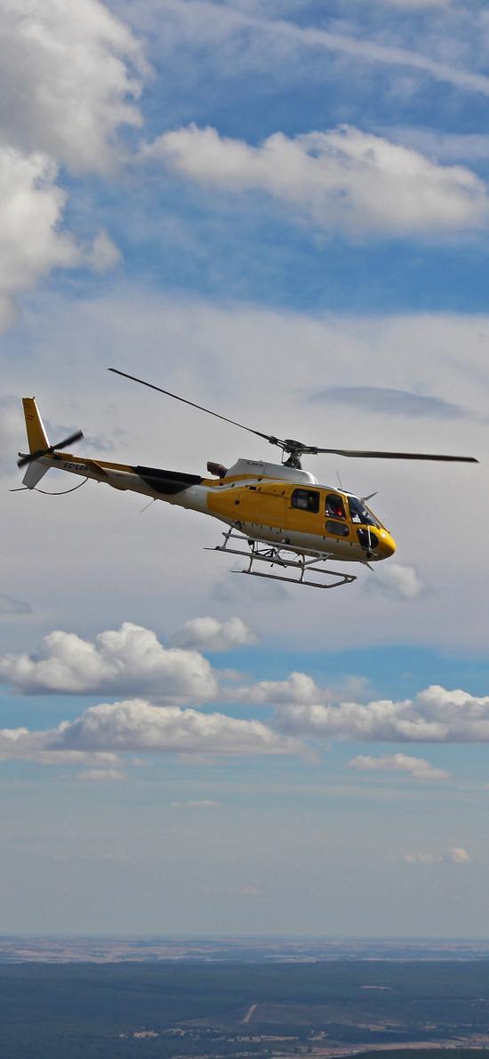 直升机 飞机 飞行 航空 螺旋桨 天空