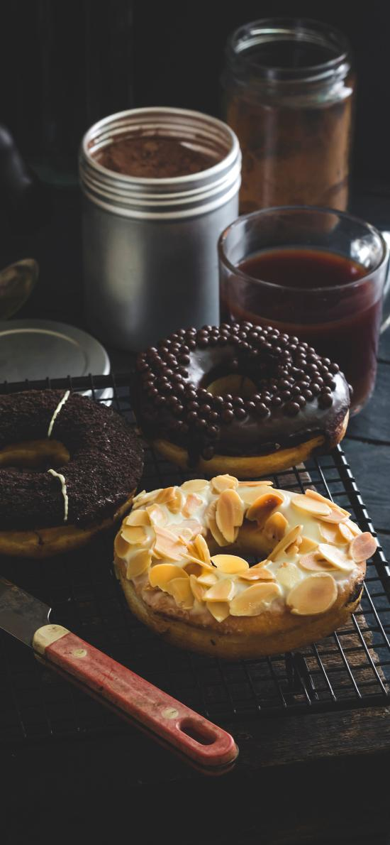 甜甜圈 甜品 坚果仁 杏仁