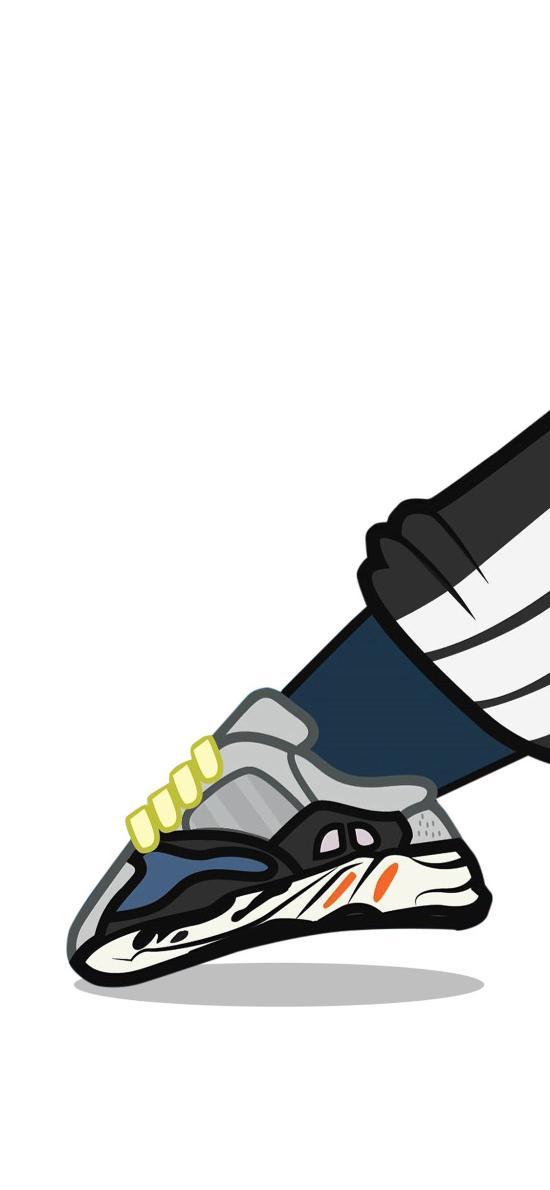 鞋子 运动鞋 潮鞋 伸脚