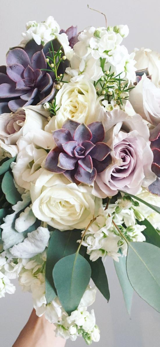 花束 鲜花 盛开 枝叶 捧花