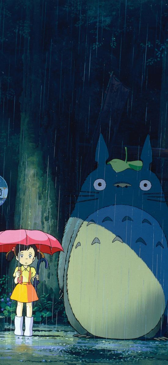 龙猫 宫崎骏 日本 漫画 雨