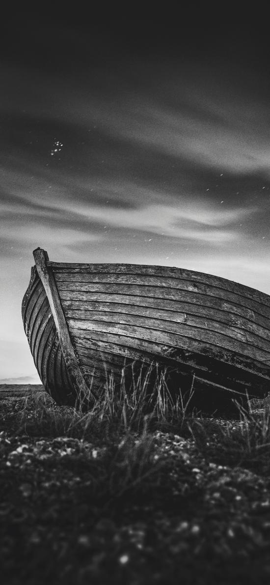 木船 船只 荒野 废弃