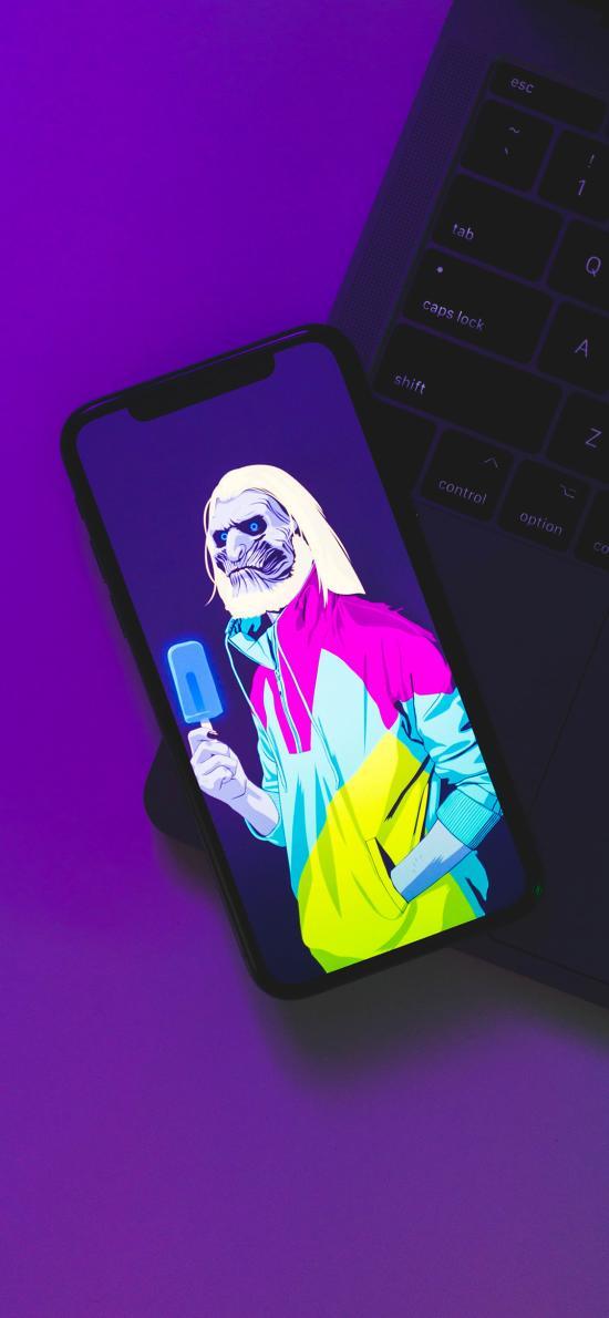 手机 iPhone X 锁屏 创意