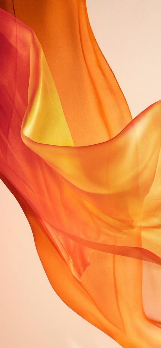 柔和 橘黄色 流动 柔美 渐变