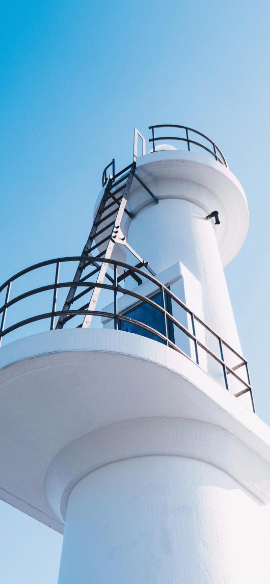 建筑 蓝天 爬梯 瞭望塔