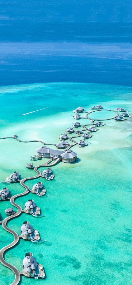 大海 水上度假屋 休闲 景点