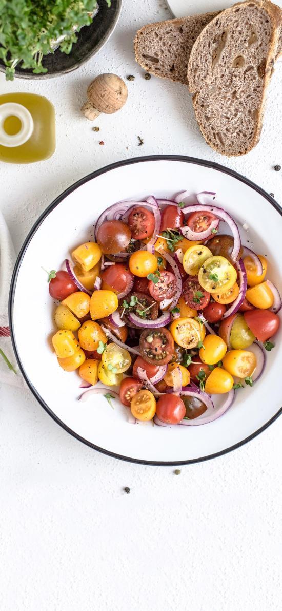 小番茄 圣女果 洋葱 吐司