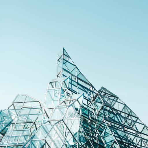 建筑 钢筋 玻璃 三角体  几何