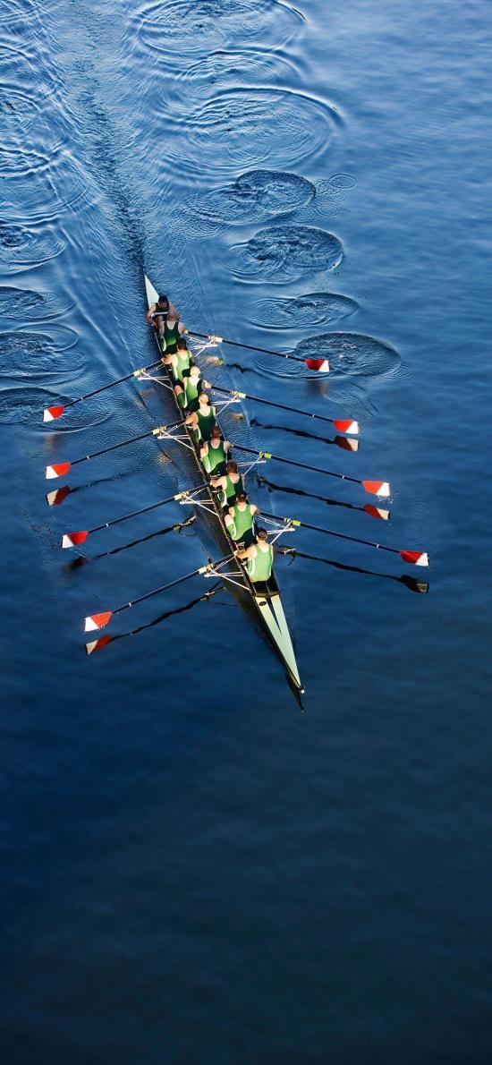 皮划艇 船 运动 湖水