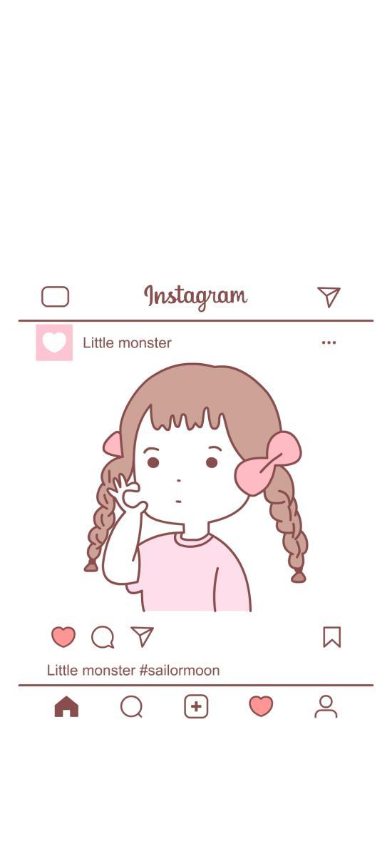 女孩 辫子 粉色 Instagram 照片