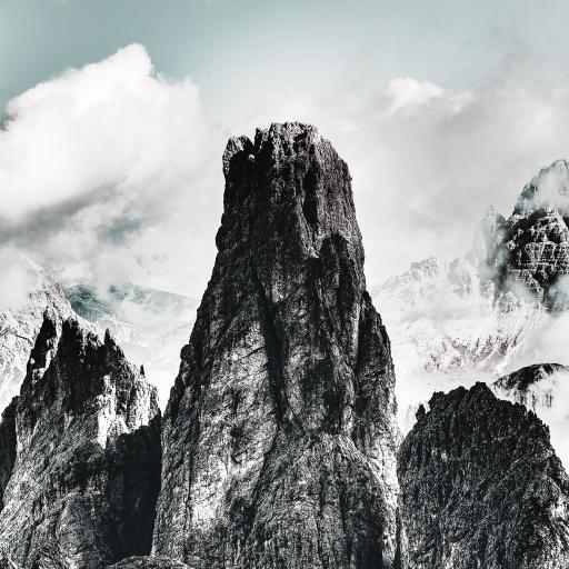 自然美景 云层 山峰 壮观
