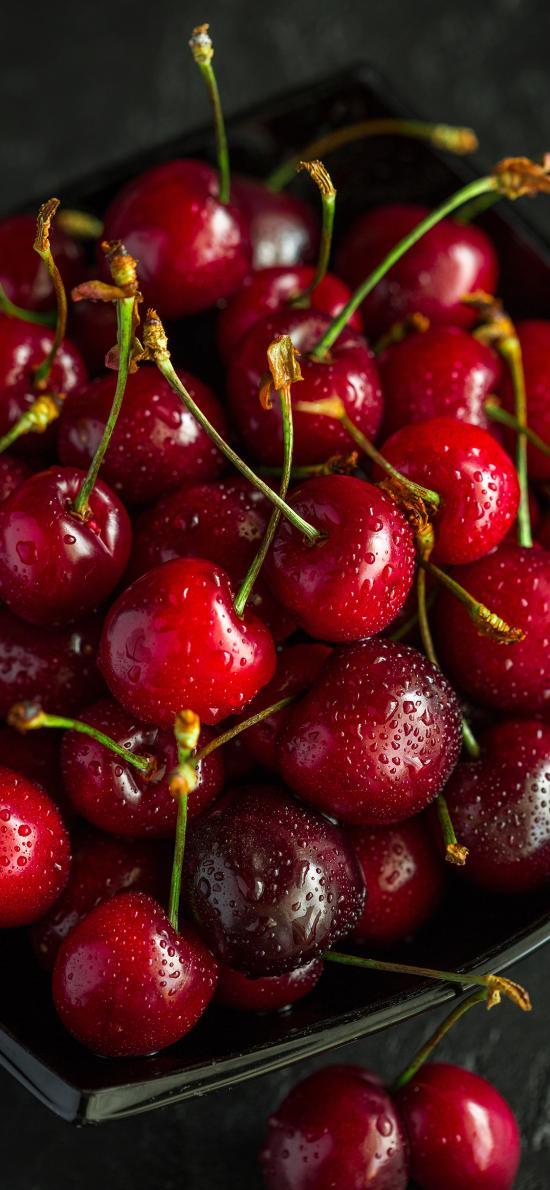 樱桃 车厘子 水果 水珠