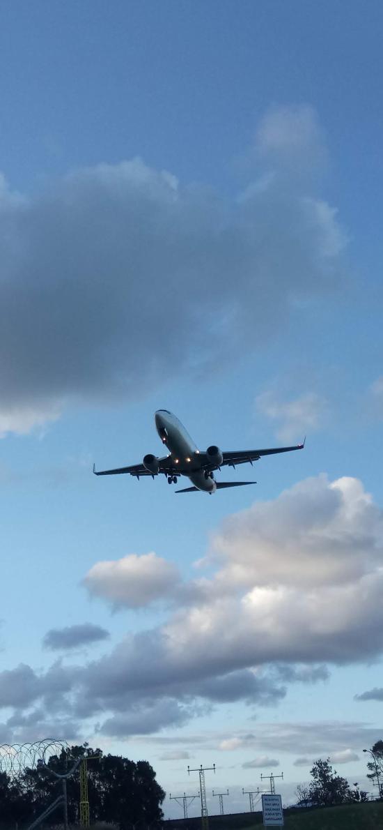 飞机 飞行 航空 蓝天白云
