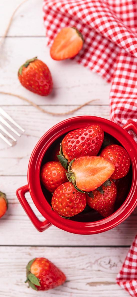 草莓 水果 颗粒 新鲜 鲜红