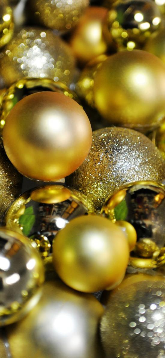圣诞 装饰球 金色 庆祝