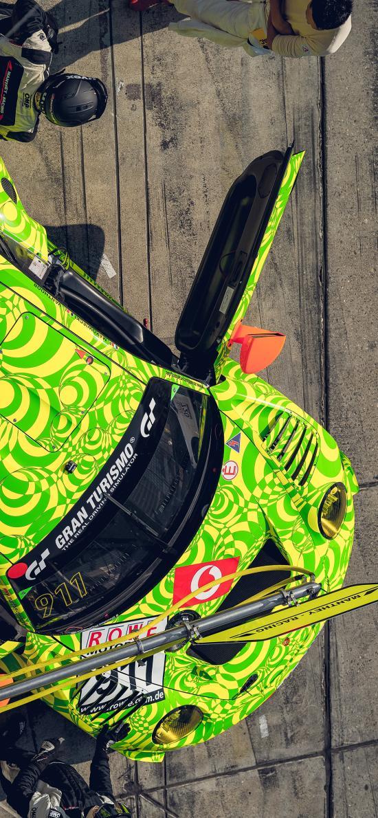 赛车 汽车 贴纸 绿色 竞赛