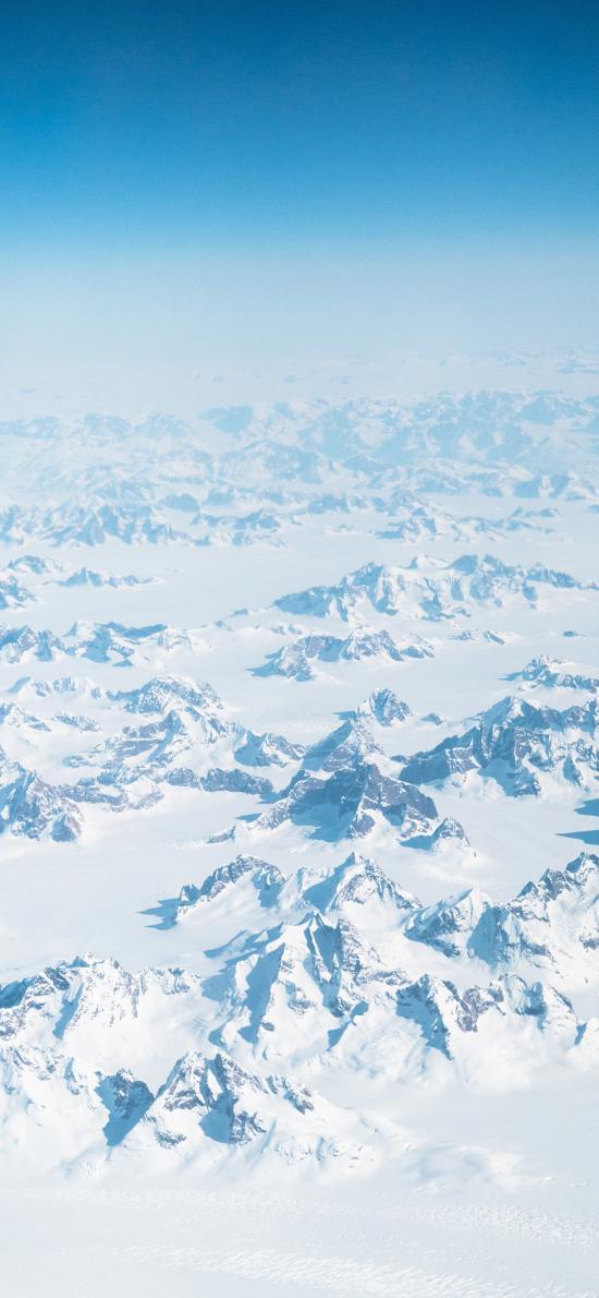 雪峰 雪山 远眺 雪季