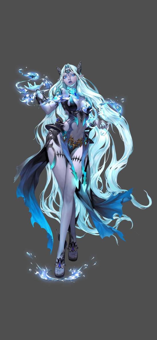 游戏 插图 3D 魔法 女角色