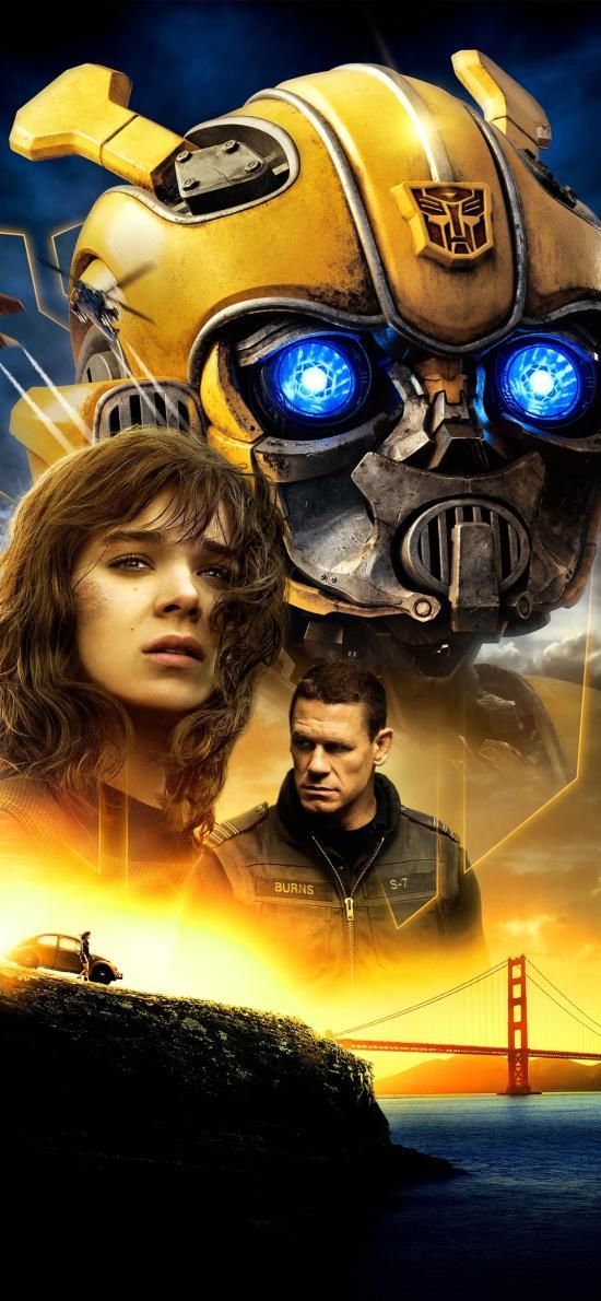 大黄蜂 机器人 欧美 电影 海报