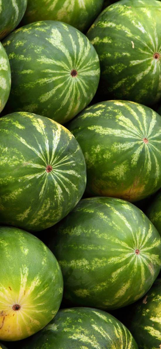 西瓜 夏日 水果 绿色 堆放