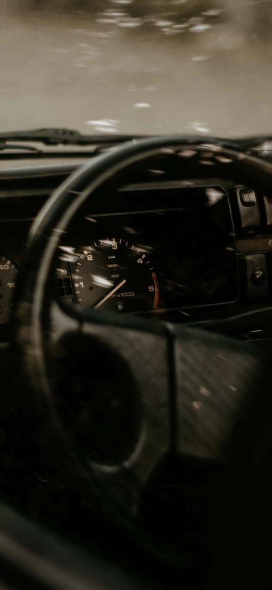 汽车 方向盘 仪表盘 操控