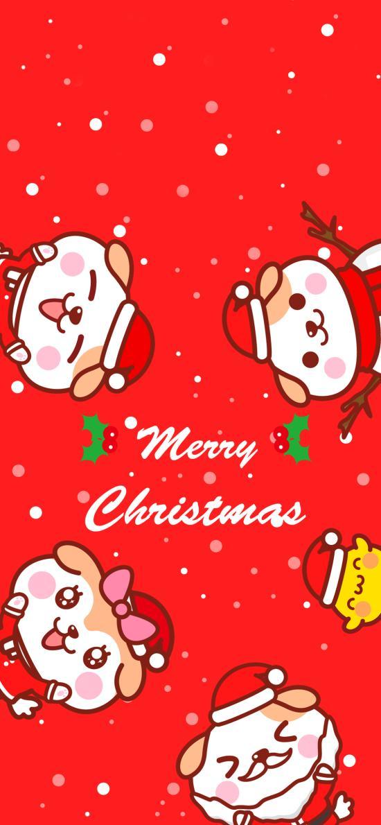 圣诞节 卡通 狗狗 Merry Christmas